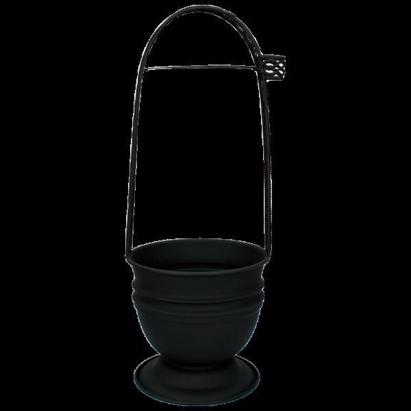 Kohlekorb Orientalisch Schwarz Matt